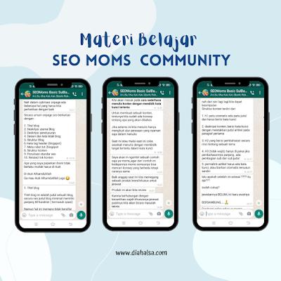 materi belajar SEO Moms Community