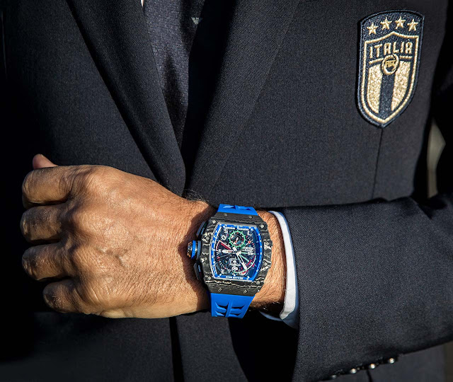 Richard Mille RM 11-04 on the wrist of Roberto Mancini