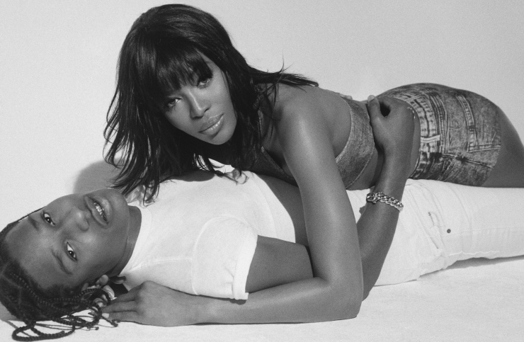 NAOMI CAMPBELL COSIES UP TO A$AP ROCKY FOR POP MAGAZINE