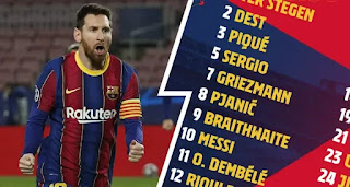 Barcelona announce the same squad for Cadiz as they did against PSG