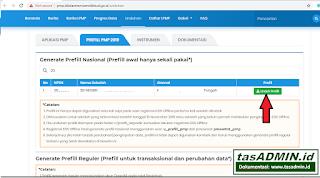 Cara Download Prefill Nasional PMP