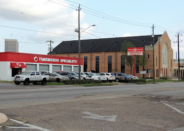 Transmission Specialists next to Church 902 Shepherd Dr, Houston, TX 77007