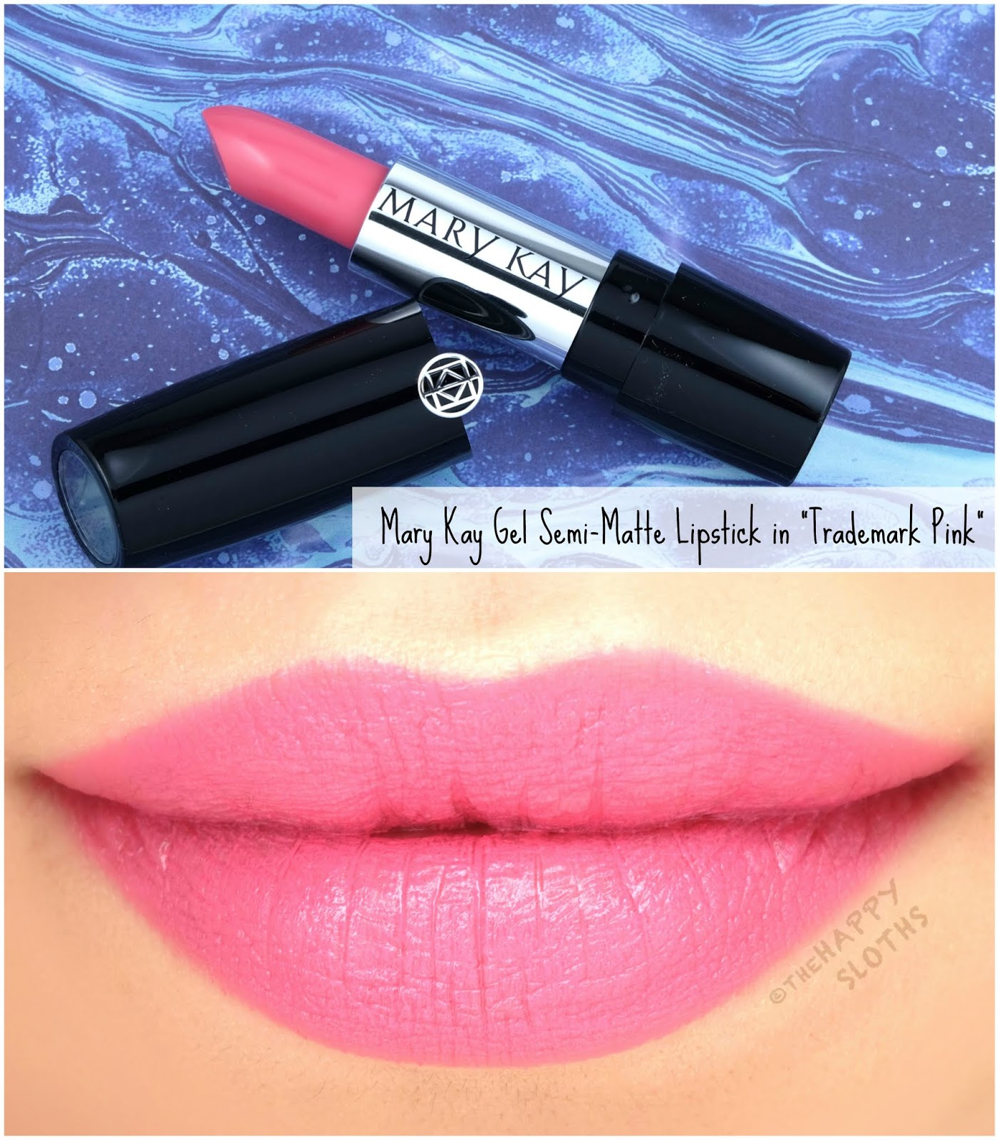 """Mary Kay   Spring 2020 Gel Semi-Matte Lipstick in """"Trademark Pink"""": Review and Swatches"""