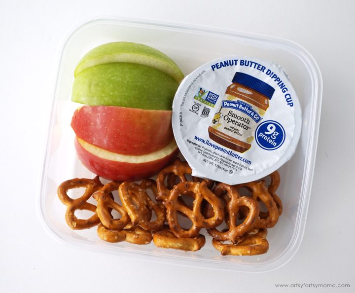 Add in a Peanut Butter & Co. Smooth Operator Dipping Cup along with some apple slices and pretzels for lunch!