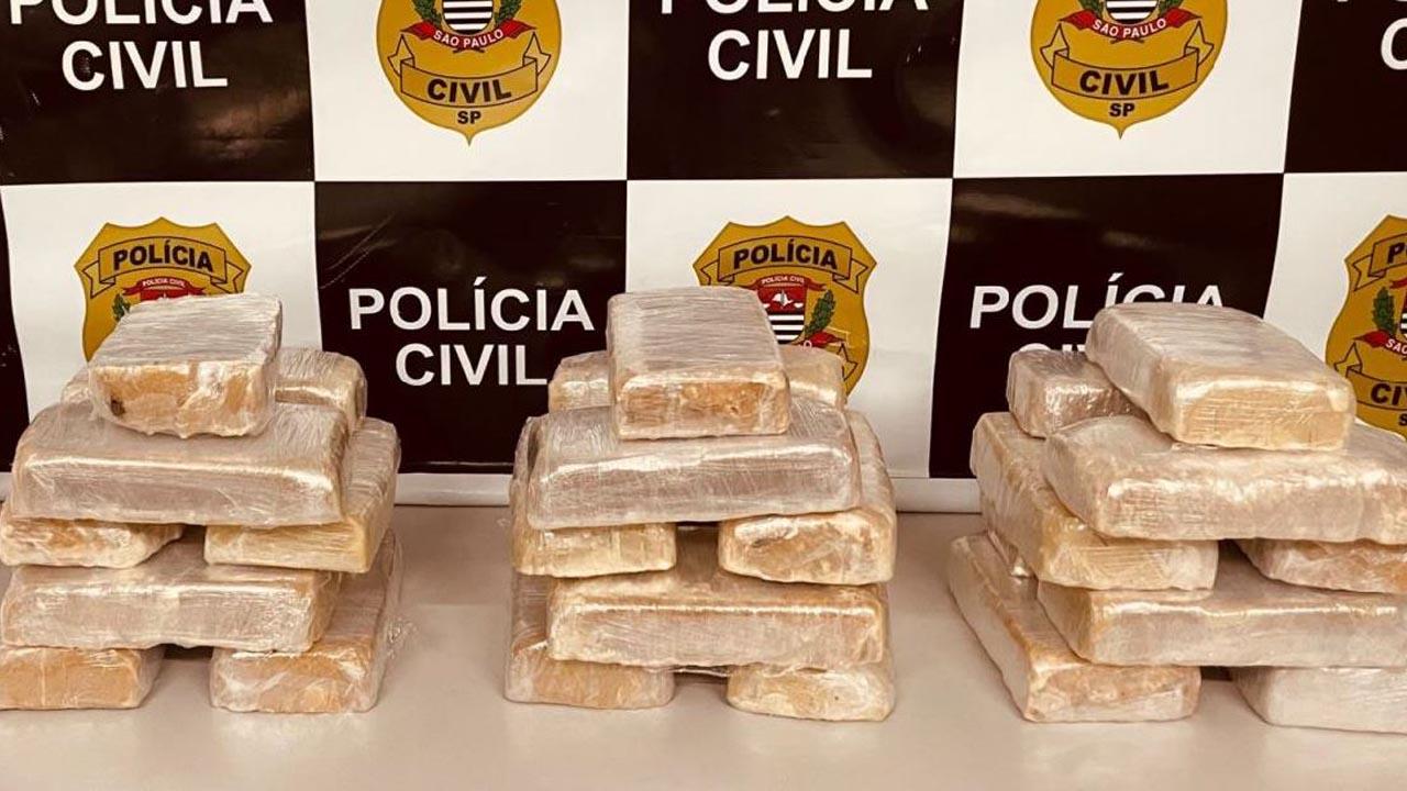 Dise de Americana realiza operação e apreende 27 kg de pasta base de cocaína