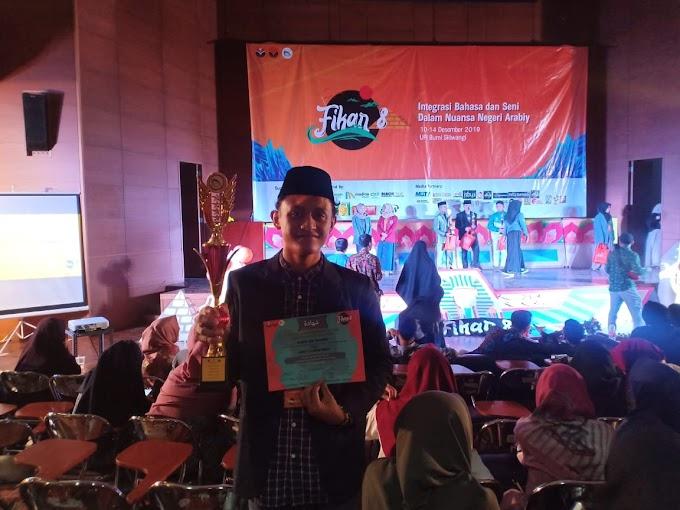 Jimi dan Tim Kembali Boyong Piala, Kali ini Lomba Debat Bahasa Arab dalam FIKAR ke-8 UPI Bandung