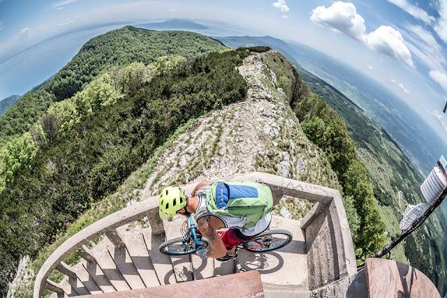 Höchster Berg von Istrien Überschreitung Mountainbike Bike MTB Tour GPS Track