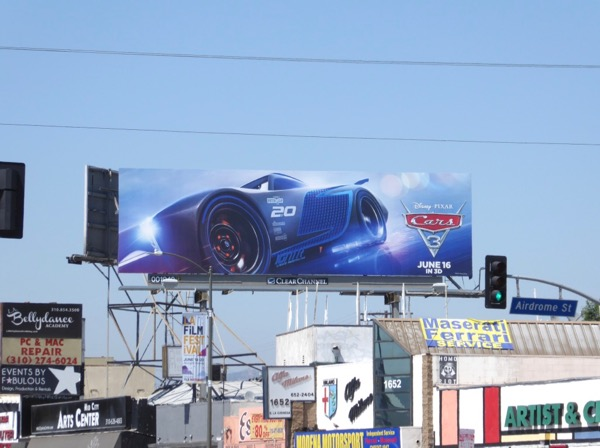 Cars 3 film billboard