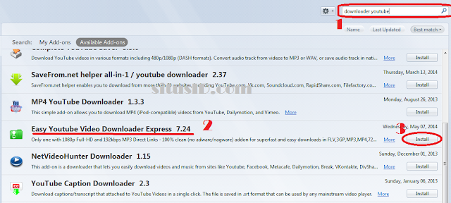 download video youtube di Mozilla