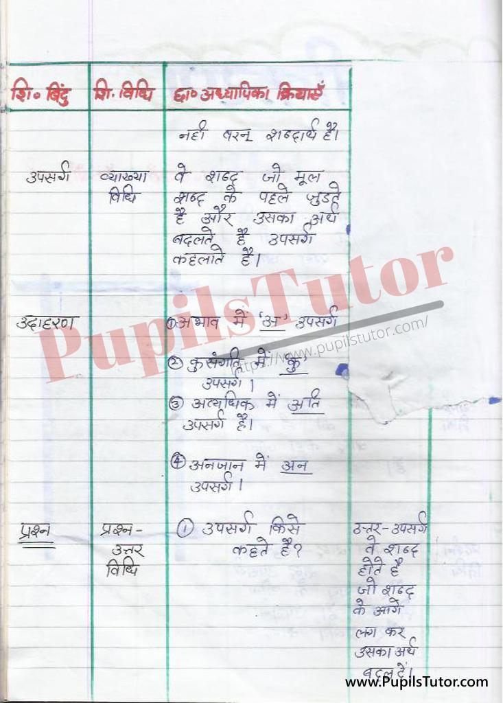 shabd rachna Evam Shabd Rachna Bhed Evam Prakar par Lesson Plan in Hindi for BEd and DELED