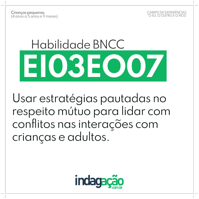 Habilidade EI03EO07 BNCC