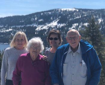 Patti (Phalen), Dorothy, Sandy (Aurenig), Albert Burdick, Spring 2019