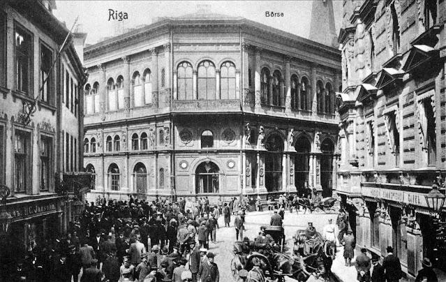 Рига. Вид на здание Биржы с Сарайной улицы