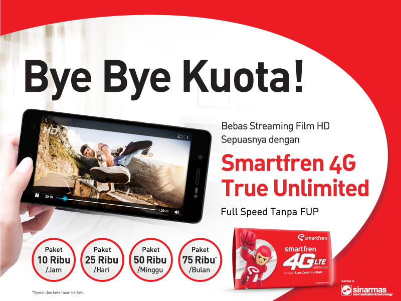 Paket Internet True Unlimited Smartfren Terbaru