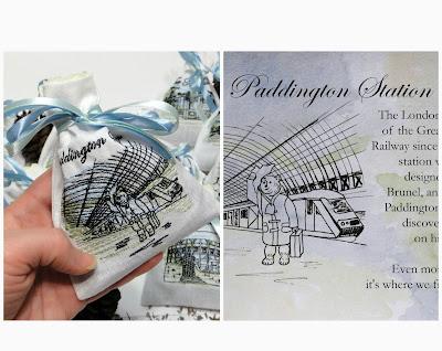 Паддингтонский вокзал - сюда прибыл Мишка Паддингтон. Саше для свадьбы в английском стиле. Изображения, надписи,даты - все, что нужно заказчику