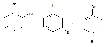 Benzene gives three disubstituted derivatives that support the Kekule Structure.
