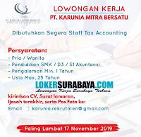 Info Lowongan Kerja Surabaya di PT. Karunia Mitra Bersatu Nopember 2019