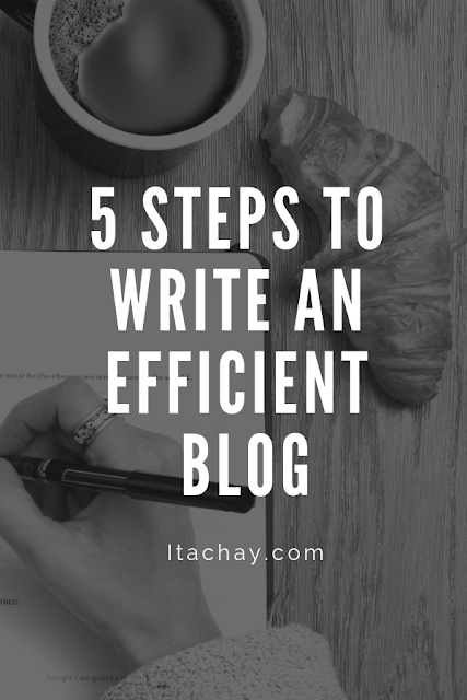 5 Steps to Write an Efficient Blog