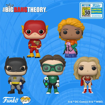 San Diego Comic-Con 2019 Exclusive The Big Bang Theory DC Comics Cosplay POP! Vinyl Figures by Funko