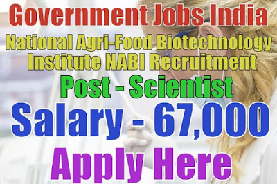 National Agri-Food Biotechnology Institute NABI Recruitment 2017 Mohali