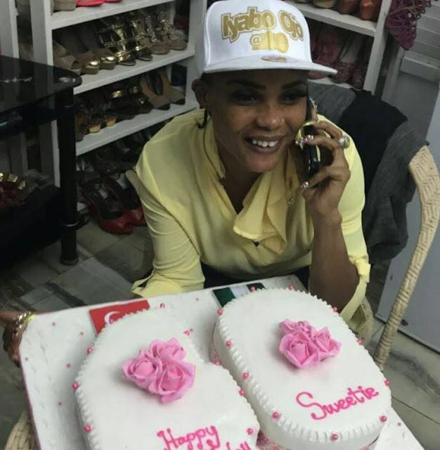 iyabo ojo 40th birthday cake