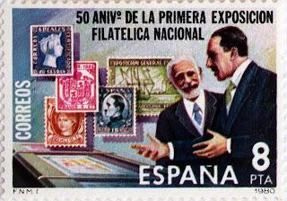 50 ANIVERSARIO DE LA PRIMERA EXPOSICIÓN FILATÉLICA NACIONAL