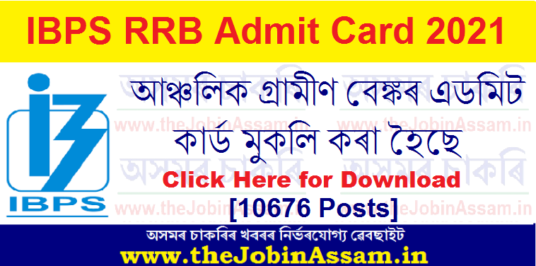IBPS RRB Office Assistant Admit Card 2021