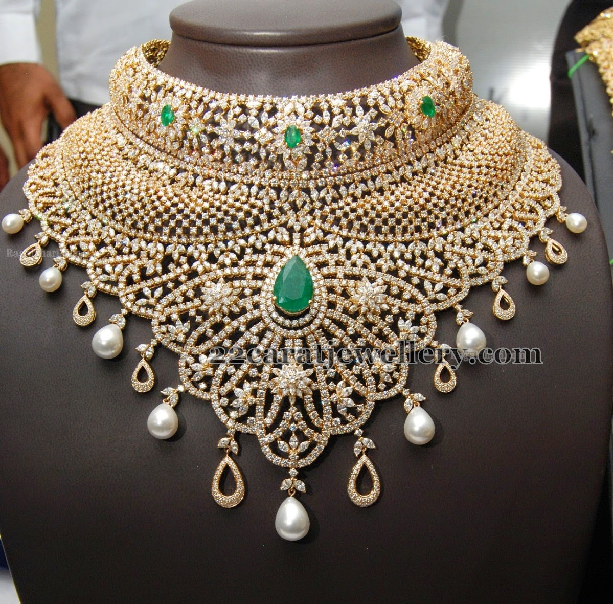 Kirtilals Large Diamond Necklace Jewellery Designs