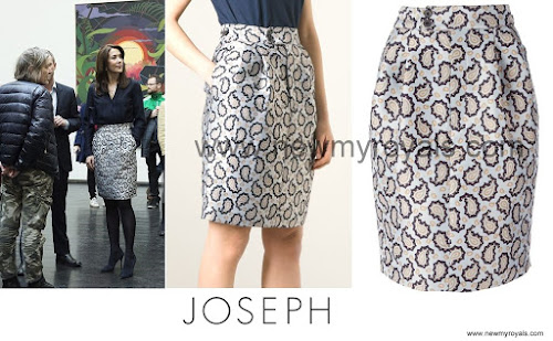 Crown princess mary wore JOSEPH Dean Skirt