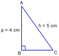 right angled triangle ABC