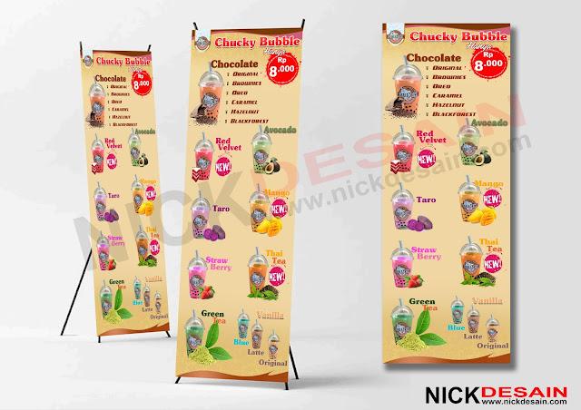 Contoh Desain Standing Banner Es Bubble | Percetakan Murah Tanjungbalai