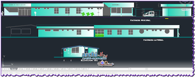 - Horizontal projections of the project Health center dwg