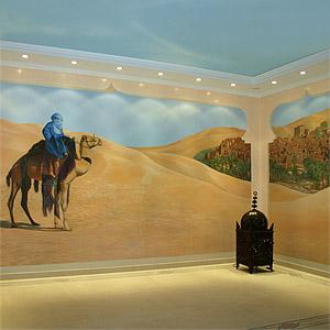 Wandmalerei und Illusionsmalerei in Bad und Wellness