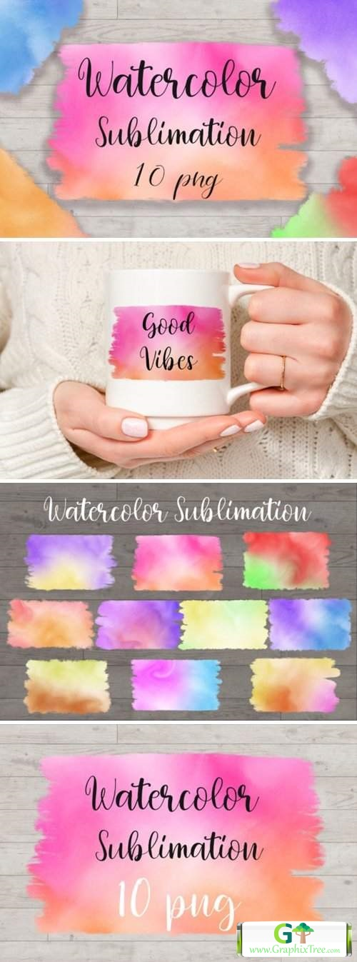 Sublimation Watercolor Background [Stock Image] [illustrations]