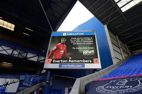Everton thanking Marcus Rashford 081120