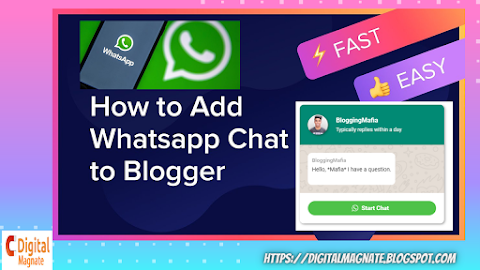 How to integrate WhatsApp Live chat in blogger website