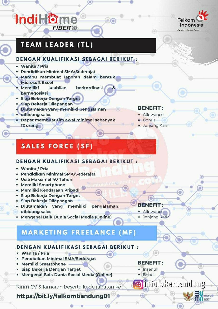 Lowongan Kerja Telkom Indihome Bandung Agustus 2020