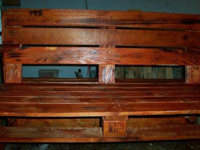 wooden pallet garden benches