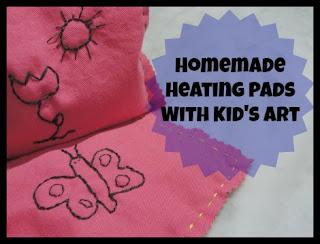 kids artwork heating pads