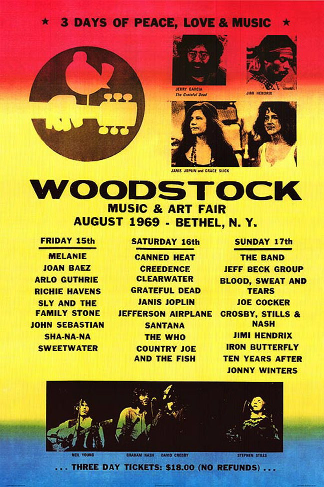 Location Woodstock 1969