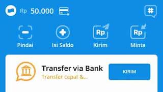 transfer via bank di dana