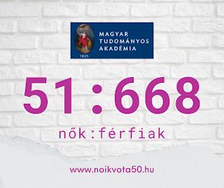 Az MTA Magyar Tudományos Akadémia tagjai között 51:668 a nők és férfiak aránya #KE47