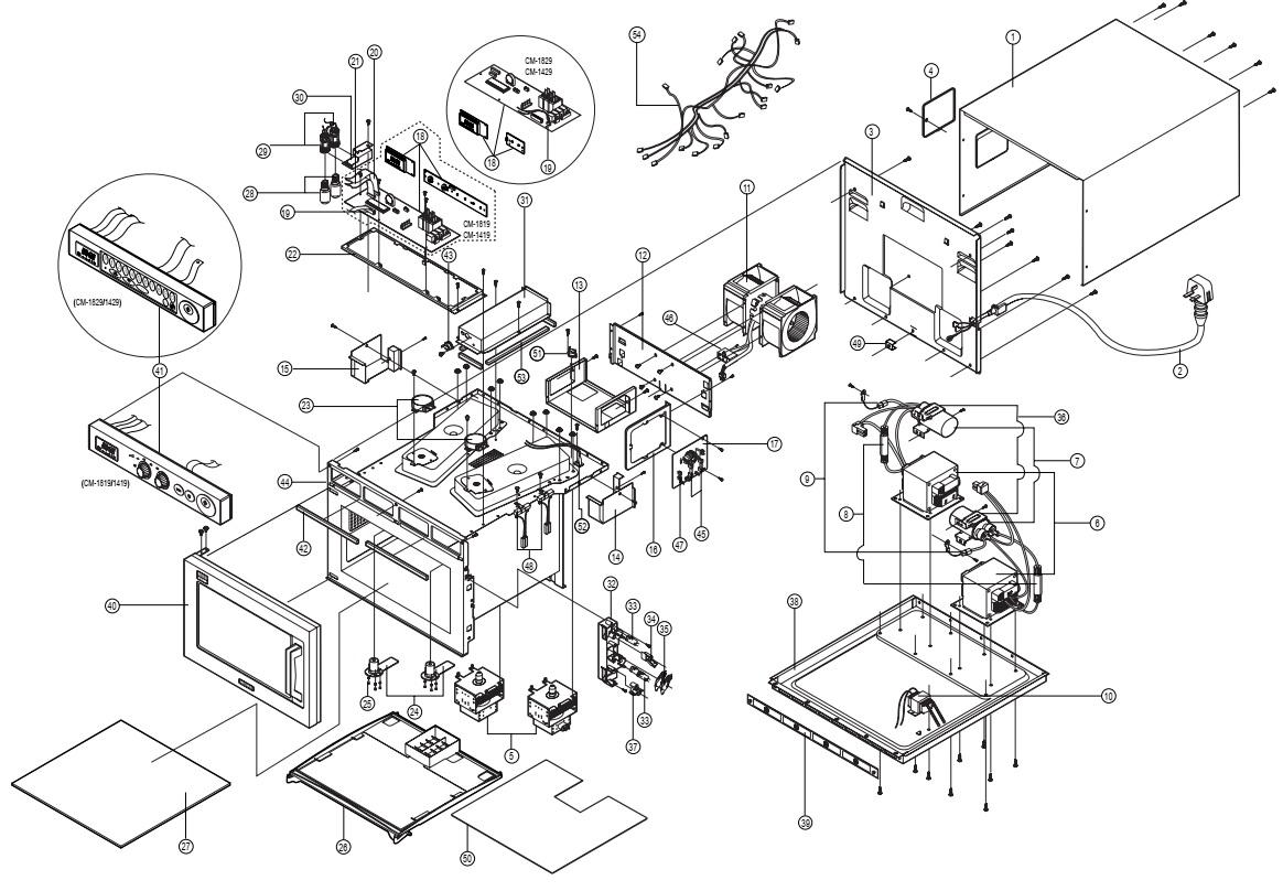 Electro Help Samsung Cm Cm Microwave Oven