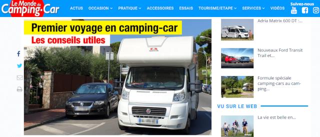 Portada de Le Monde du Camping-car