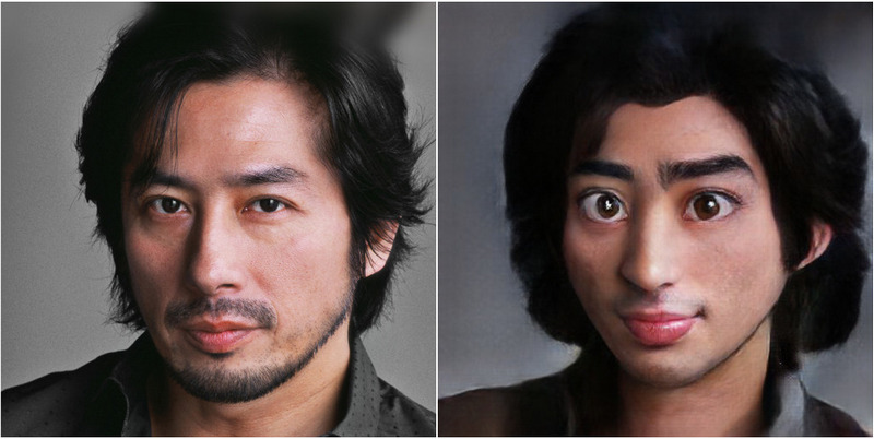 Hiroyuki Sanada Transform into Disney characters using neural networks