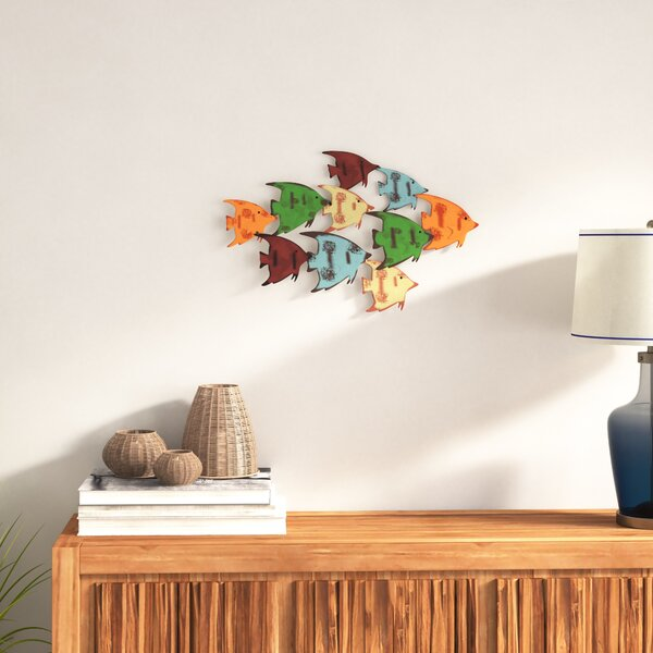 School of Fish Metal Wall Decoration 2 of 2