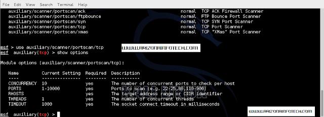 Port Scanning with Metasploit in Kali Linux Penetration