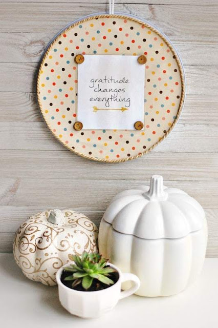 Gratitude Changes Everything Embroidery Hoop Craft