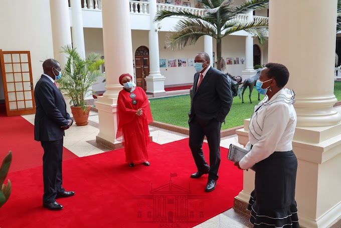 UHURU forgives RUTO all his sins as he holds a 7-hour meeting with him to iron out their differences! RAILA may collapse after this