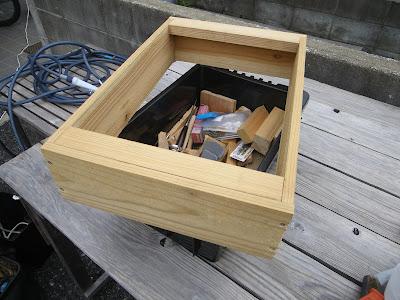 木枠 ストッパー 完成